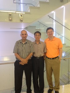 Dr. Shaikh, Dr. Zhou, and Dr. Yang (pictured L-R)