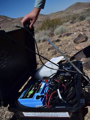 Field Seismometer In Mojave 1