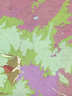 Geo Map Round Mt Quad