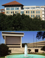 Jackson School of Geosciences (above) and LBJ School of Public Affairs, LBJ Library and Museum (below).