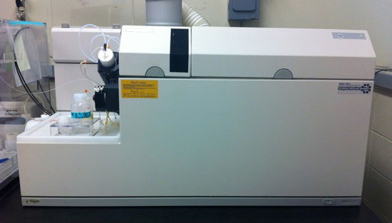 Figure 1. Inductively coupled plasma mass spectrometers (ICP-MSs), such as the Agilent 7500ce shown here, can rapidly, accurately, and precisely measure elemental concentrations for most of the periodic table in liquid and solid samples.