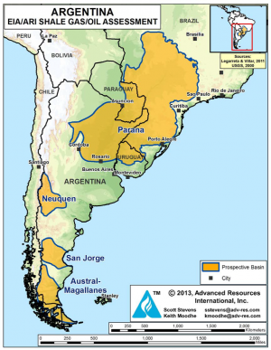Argentina and China lead shale development outside North America in first-half 2015