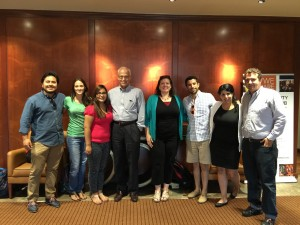 Students from the Energy and Earth Resources Graduate Program discuss Latin America