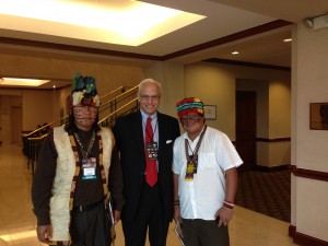 Pinon with Ecuadorean indigenous leaders