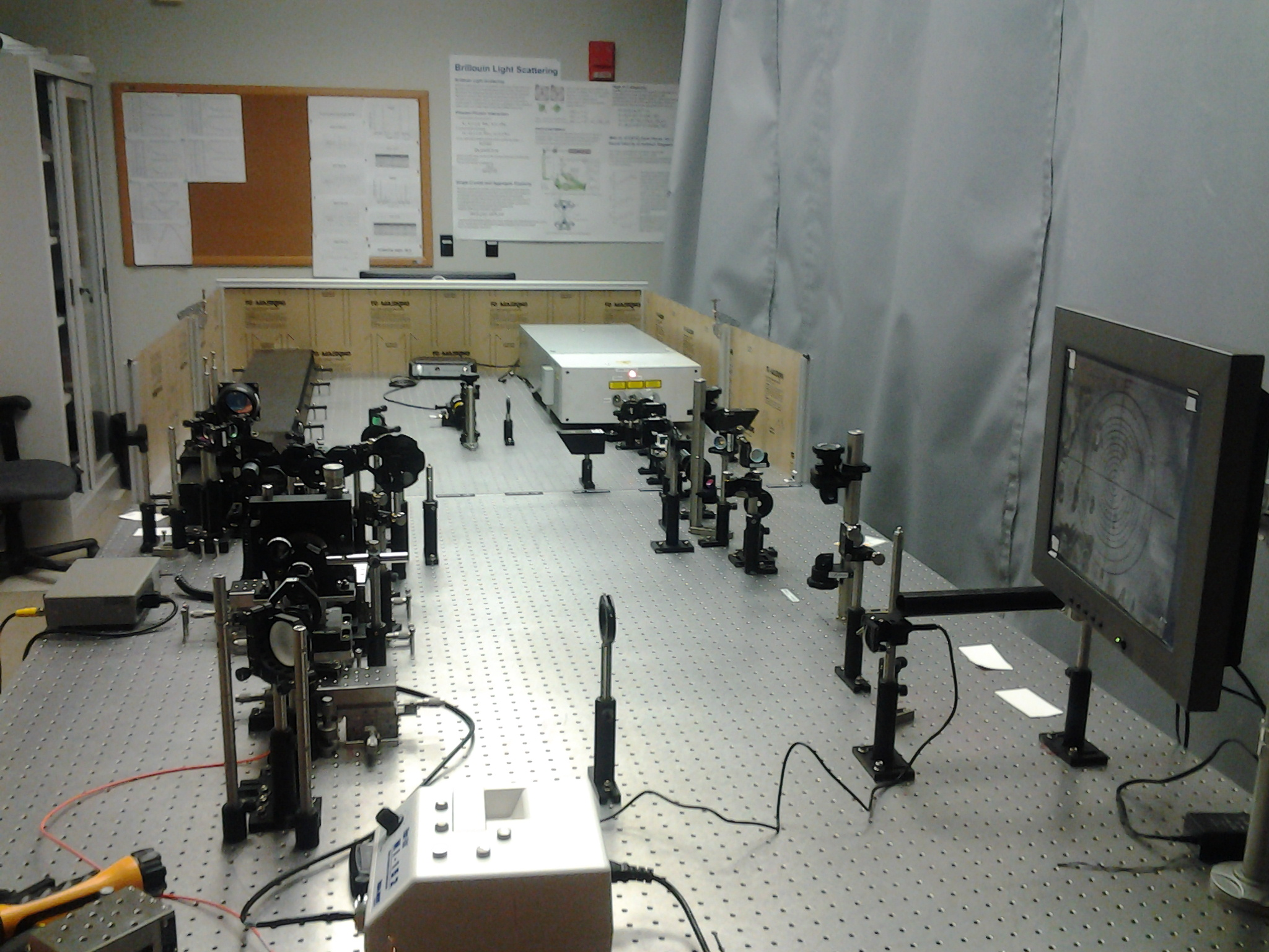 Coherennt Talisker Laser and Aerotech Stage on 12x5' optical table