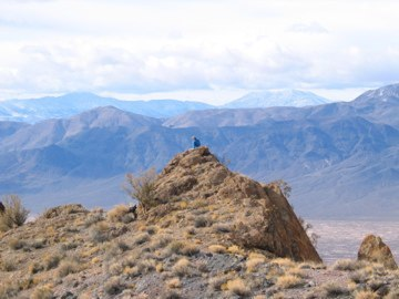 Pilot Mountains, NV looking West