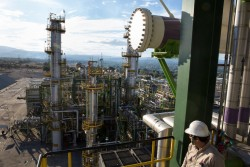 A worker at a Petróleos Mexicanos refinery in Tula de Allende, Hidalgo, Mexico. Credit Janet Jarman for The New York Times