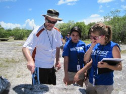 GeoFORCE students with Terry Quinn at Windley Key Geological State Park, Florida