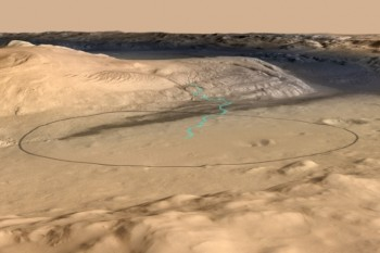 Planetary scientists have been stumped as to how Mount Sharp—and dozens of other giant peaks that rise from various Martian craters—formed. Credit: NASA/JPL-Caltech/ESA/DLR/FU Berlin/MSSS