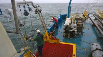 A BEG coring operation off Galveston island.