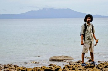 Ph.D. student Kaustubh Thirumalai in the Western Province of the Solomon Islands.
