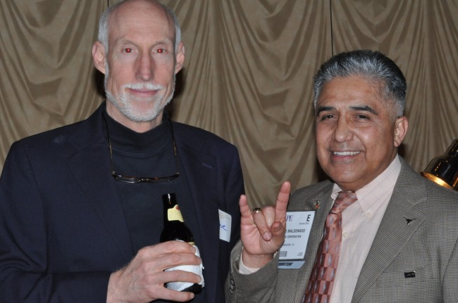 Bruno Maldonado (B.S. '82) and Steve Crews (B.S. '82).