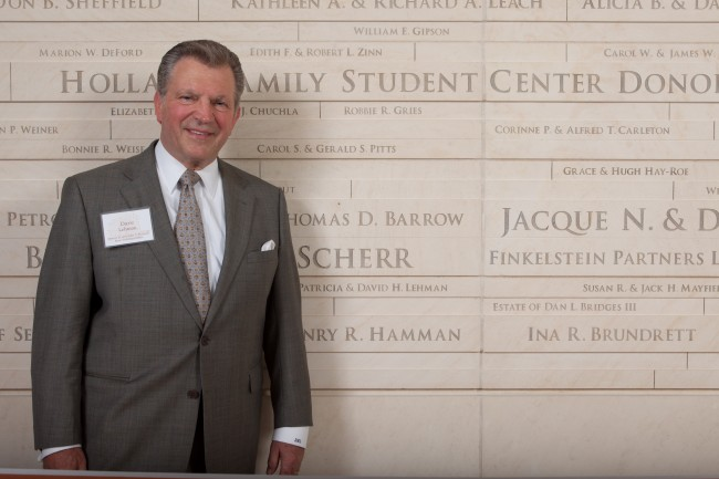 Dave Lehman at the Holland Family Student Center grand opening ceremony in 2012.