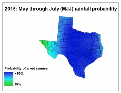 A new forecast method created by the Jackson School accurately predicted a wet late spring and early summer in 2015.
