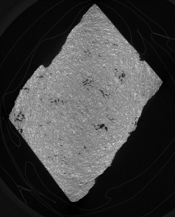 Ct Scan of Apollo Lunar Sample 12038-7, which was collected from the moon during the Apollo 12 Mission.
