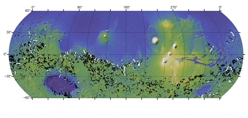 Goudge Mars Lake Breach Global Map