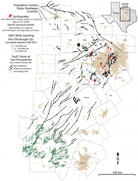 Hennings Et Al Ft. Worth Basin Fault Map
