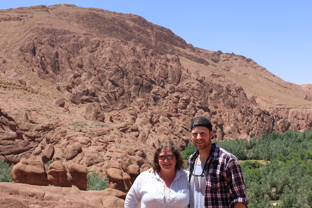Rowan Martindale and graduate student Nick Ettinger in Morocco.