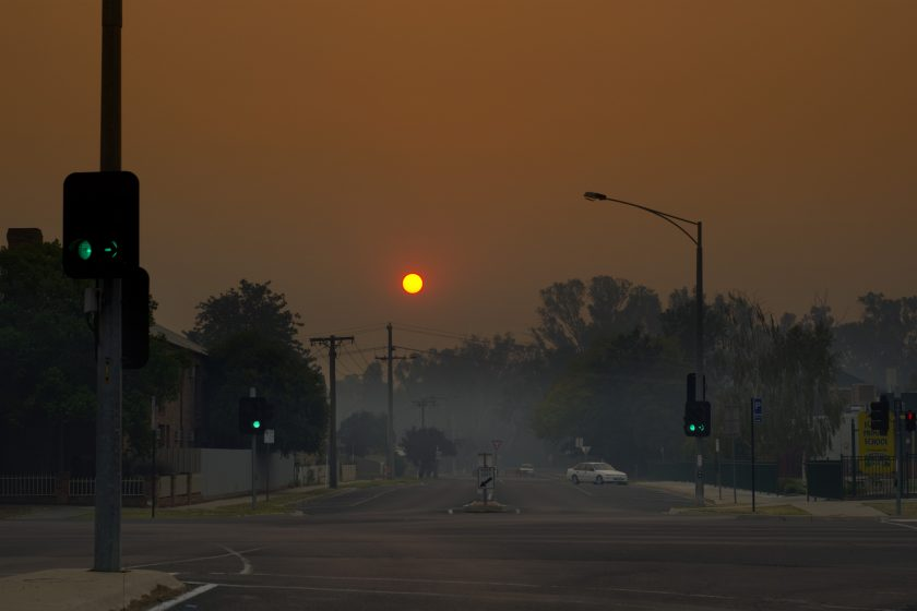 Smoke from bushfires