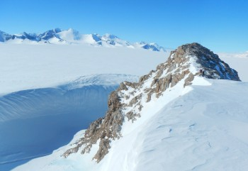 The Ellsworth Mountains in Antarctica.
