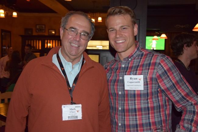 Ryan Coppersmith (M.S. '08) and Professor Mark Cloos