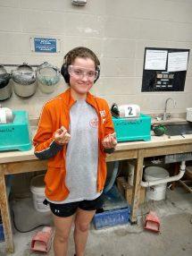 Student Prepping Samples At Jsg