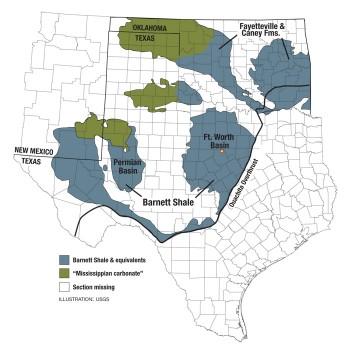 Barnett Formation Map