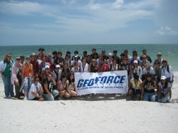 First GeoFORCE graduating class at Lover's Key in Florida in 2008.