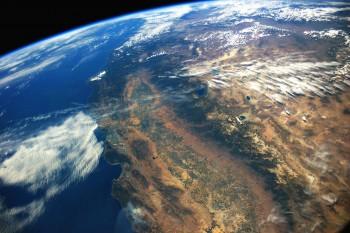 California as viewed from the International Space Station. NASA, Stuart Rankin