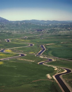 California aqueduct and canal