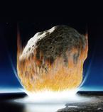 A new study reveals that the asteroid that killed the dinosaurs landed in deeper water than once thought, perhaps explaining why its effects were so severe. Image: NASA