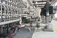 The world's largest inland desalination plant, located in El Paso, Texas, was dedicated in August, 2007.