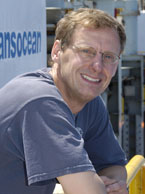 Peter Flemings' studies of pore pressures in seafloor sediments are answering questions about submarine landslides, oil and gas migration, and methane hydrates. Photo: Sasha Haagensen.