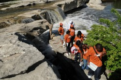 Fort Valley students got a first hand look at the geology of central Texas at McKinney Falls State Park east of Austin.