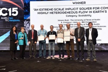 Ghattas Wins Prestigious Super Computing Prize for Modeling Earth's Mantle