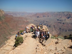 GeoFORCE students in the Grand Canyon