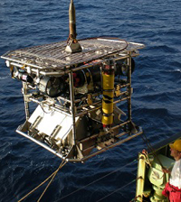 Scientists used HyBIS, a remotely controlled submarine, to discover the hydrothermal vents.