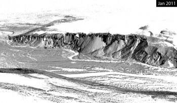 2 of 3 - Garwood Valley ice cliff, Jan. 2011