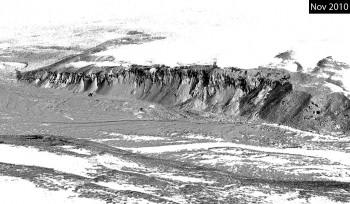 1 of 3 - Garwood Valley ice cliff, Nov. 2010