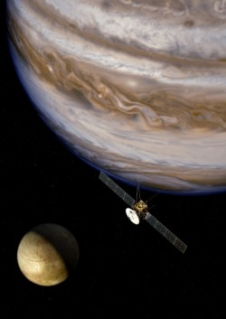 Artist's impression of JUICE Spacecraft at Jupiter