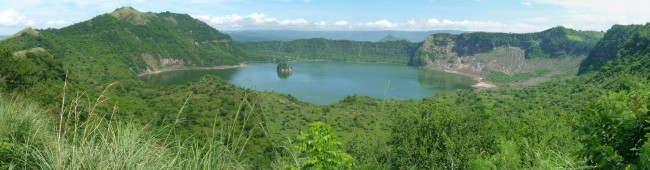 Main Crater Lake, Taal Volcano, Philippines
