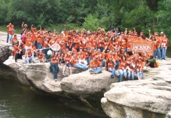 Nearly all of the 140 students of Manor New Tech High School participated in the day long science field trip to McKinney Falls State Park.