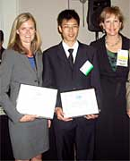 Left to Right: Kristine McAndrews (UT Austin), Lu Jin (LSU), Jill Kerr (ExxonMobil).