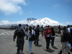 The first stop was Mount St. Helens