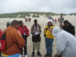 Students measured longshore drift and the rate of dune movement at the Oregon Dunes