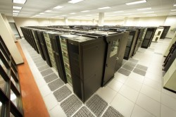 "The ""Ranger"" supercomputer, at UT Austin's Texas Advanced Computing Center, is one of the most powerful high-performance computing systems in the world. In its four year expected lifespan, it will do more computational work than an ordinary desktop PC operating continuously for 200,000 years.Photo: Advanced Micro Devices"