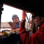 """I had never tried to do field geology sitting in a vehicle,"" said Helper. ""I was actually quite surprised at what I could accomplish."""
