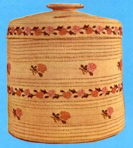 Aleut covered basket