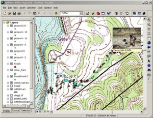 GIS map from Canyon Lake Project