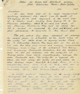Glen Evans Field Notes